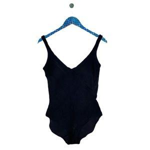 Gottex Black Lattice Front Slimming One Piece Suit